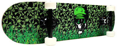 PRO Skateboard Complete Green Flame 7.5 in FREE SHIPPING!