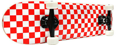 CHECKER SKATEBOARD New PRO COMPLETE RED/WHITE Checkers ()