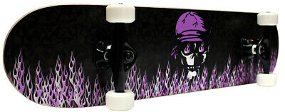 PRO Skateboard Complete KROWN Purple Flame 7.5 in