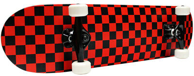 CHECKER SKATEBOARD New PRO COMPLETE RED/BLACK Checkers ()