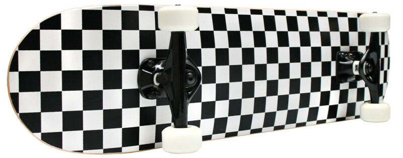 CHECKER SKATEBOARD New PRO COMPLETE Checkers ABEC 5