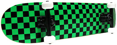 CHECKER SKATEBOARD New PRO COMPLETE Checkers ABEC 5 BLACK/GREEN