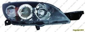 Head Light Passenger Side Hatchback HID High Quality Mazda 3 2004-2009