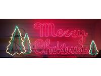 7 Foot Long and 2.5 Feet High Perfect Working Order Christmas Sign