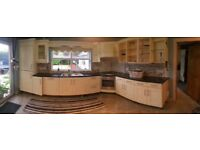 Solid wood shaker kitchen unit doors & granite worktop for sake