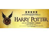 2 Pair of tickets Harry Potter Cursed Child Dress Circle £280 Total - Part 1 & 2 Aug 24 & 25