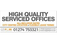 HIGH QUALITY SERVICED OFFICES - FLEXIBLE LEASE TERMS - BD1 CITY CENTRE LOCATION - PARKING -