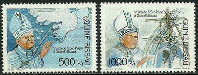 Guinea-Bissau 885-6 Mint Never Hinged Set - Pope John Paul II