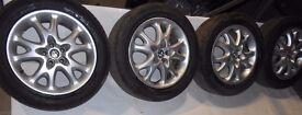 Alfa Romeo 5x98 16'' alloy wheels with tyres 205/55/16
