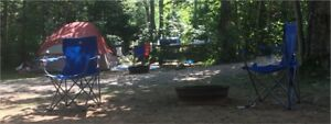 Two camping fold away chairs