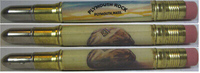 RESTORED Vintage Bullet Pencil - Plymouth Rock - Plymouth, Mass EF-1353