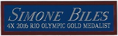 Simone Biles Usa Nameplate For Autographed Signed Photo Gold Medal Book Si Cap