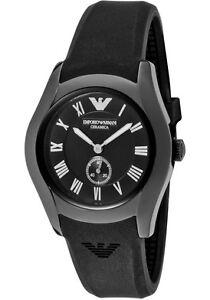 Emporio-Armani-Watch-AR1432-Womens-Ceramica-Black-Dial-Black-Silicone