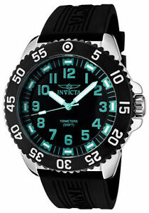 Invicta-Watch-1099-Mens-Pro-Diver-Black-Dial-Black-Polyurethane