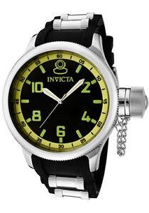 Invicta-Watch-1433-Mens-Russian-Diver-Black-Dial-Black-Polyurethane