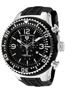 SWISS-LEGEND-Watch-11812P-01-Mens-Neptune-Chronograph-Black-Dial-Black-Silicone