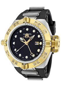 Invicta-Watch-1157-Mens-Subaqua-GMT-Black-Dial-Black-Rubber