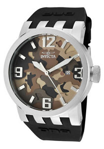 Invicta-Watch-10454-Mens-DNA-Camouflage-Brown-Camouflage-Dial-Black-Silicone