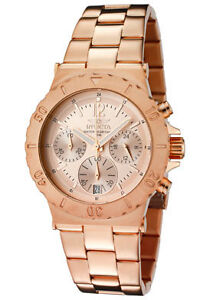 Invicta-Watch-1277-Mens-Specialty-Chronograph-Rose-Dial-18K-Rose-Gold-Plated