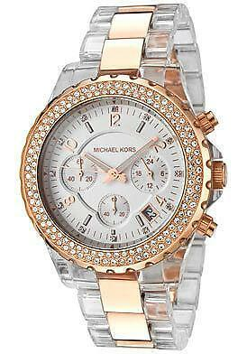 michael kors clear watches ebay