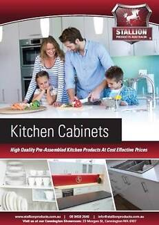 PRE-ASSEMBLED KITCHEN CABINETS