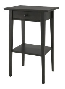 TWO IKEA Hemnes night or side tables (black-brown)