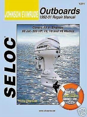 JOHNSON EVINRUDE SERVICE REPAIR MANUAL 1992 - 2001 65 - 300HP SELOC 1311
