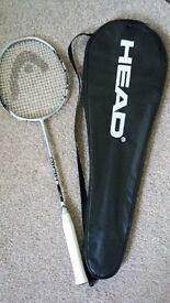 Head badminton racket and case