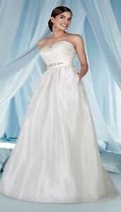 Brand new wedding gown with belt