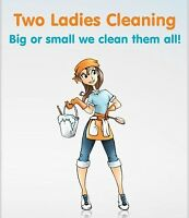 Two cleaning ladies