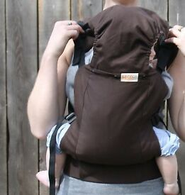 Beco butterfly baby carrier. Chocolate brown. Excellent condition .