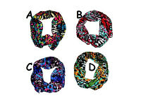 Animal print head scarf or neck scarf 25 x 160cm assorted colours - JTY430