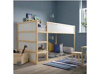 KURA Reversible bed, white/pine 90x200 cm IKEA Croydon #CircularHub #BargainCorner