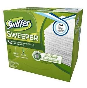 NEW SWIFFER SWEEPER WIPES 32CT 1 BOX - 32 SWIFFER SWEEPER DRY SWEEPING REFILLS WIPES 102689481
