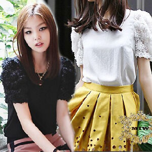 New-Vintage-Elegant-Cotton-Slim-Cut-Top-with-3D-Floral-Lace-Sleeves