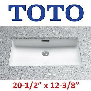 "NEW TOTO LAVATORY UNDERCOUNTER SINK - 129450200 - BATHROOM SANAGLOSS 20-1/2""x12-3/8"" COTTON WHITE"