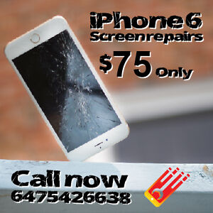 iPhone 6 Screen Replacement! On the Spot! ONLY $75!!