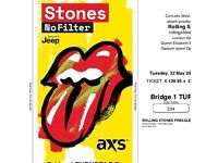 2 x seated Rolling Stones tickets