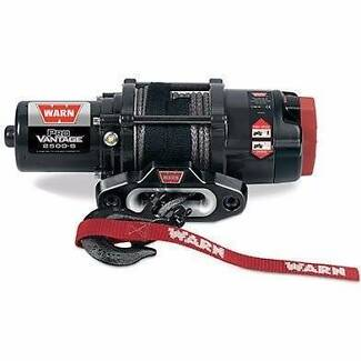 Warn 12v atv winch 15m synthetic rope w/ wireless rmote, pv2500-s
