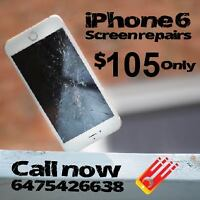 *iPHONE6 screen replacement !! Great Promotion for 105 Only!