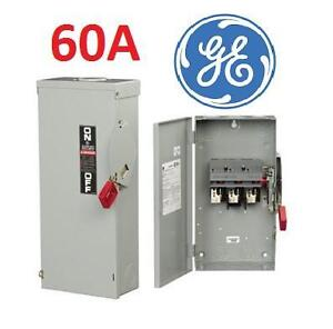 NEW GE 60AMP SAFETY SWITCH - 109332899 - Safety Switches / Disconnects Heavy Duty - Fused 240 Volt - 2 Pole Remove 240 V