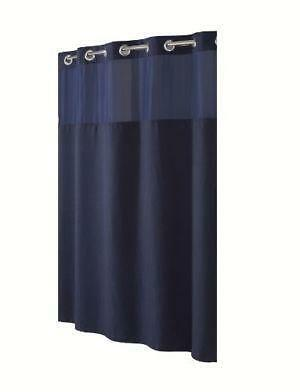 Navy Blue Shower Curtain Ebay