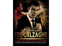 An Evening with Joe Calzaghe + 4 Course Meal (Mercure Hotel Manchester - 2 Tickets)