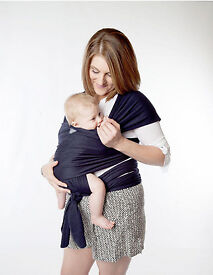 Navy Moby Wrap Baby Carrier - Lightly Used