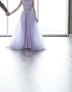 Evening or grad lilac dress with removable over skirt