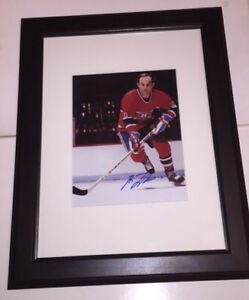 Guy Lafleur Montreal Canadiens Autographed 8x10 Photo Framed