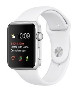 SEALED Apple Watch Series1 Sport 38mm Silver Case/White Band