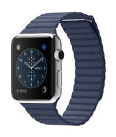 Apple Watch SS 42mm Blue Leather + Milanese Loop + Apple Care