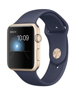 Apple iWatch, Blue/Gold, Mint, Full Warranty till Nov/2017 $350