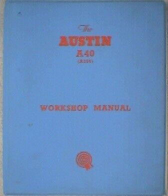 Austin A40 Workshop Manual.